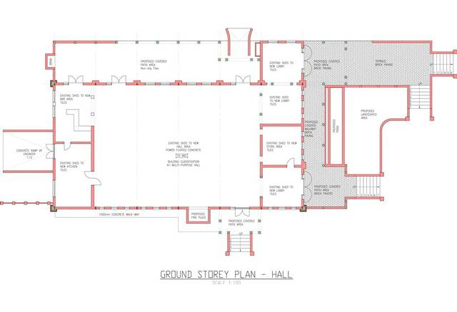 ground storey plan hall andante